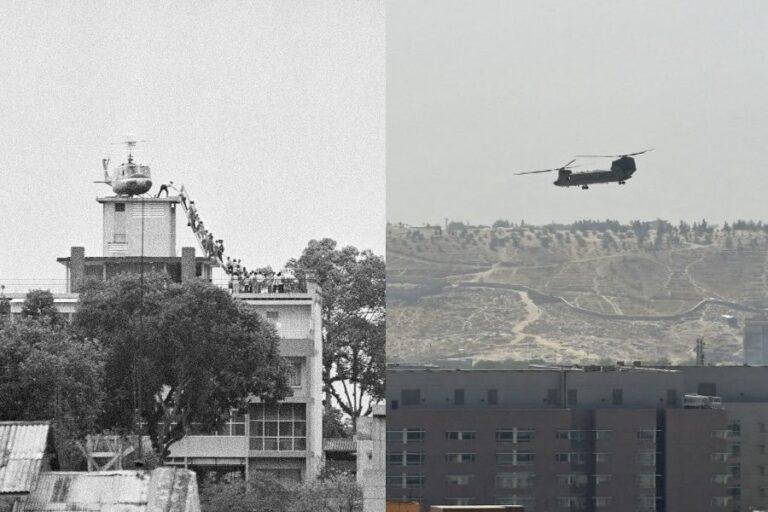 L'hélicoptère à l'évacuation de Kaboul a également eu lieu à Saigon, au Vietnam